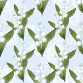 Lilies of the valley seamless pattern background — Stock Photo