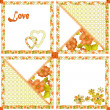 Patchwork seamless pattern hearts and flowers texture — Stock Photo