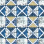 Zimní patchwork vzor bezešvé textury pozadí — Stock fotografie