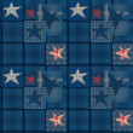 Seamless jeans denim patchwork stars pattern — Stock Photo