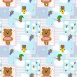 Seamless pattern with teddy bears — Stock Photo #42146563