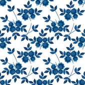 Floral seamless pattern with flowers texture gzhel on white — Stock Photo