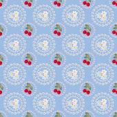 シームレスなイチゴ背景パターン — ストック写真