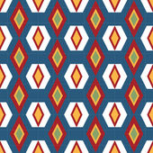 Abstract geometric seamless pattern on blue — Stock Photo