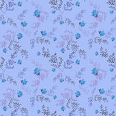 Floral seamless pattern with blue roses background — Stock Photo