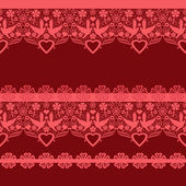 Red seamless lacy lace pattern — Stock Photo