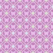 Motyl tło kwiatowy wzór — Zdjęcie stockowe