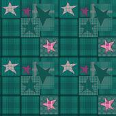 Seamless jeans denim kids patchwork stars pattern — Foto Stock