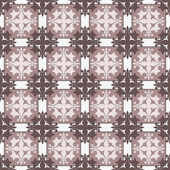 Seamless brown abstract ornament pattern on dotted — Stock Photo