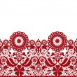 Red seamless lacy lace pattern on white — Stock Photo #43060069