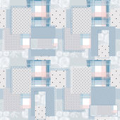 Patchwork retro seamless dotted pattern — Stock Photo