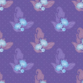 Seamless floral pattern on dotted background — Stock Photo