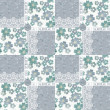 Patchwork seamless fgrey loral pattern — Stock Photo