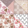 Patchwork seamless floral pattern background — Stock Photo #44223293