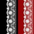 White seamless lacy lace pattern on black red — Stock Photo #44538195