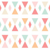 Geometric abstract triangles seamless pattern on white — Stock Vector