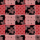 Patchwork seamless pattern with flowers — Stock Photo