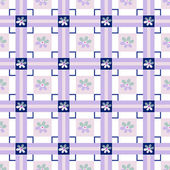 Patchwork seamless floral checkered pattern background — Stock Photo