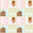 Seamless kids pattern with teddy bears and lace — Stock Photo #45384147