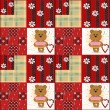 Seamless kids pattern with teddy bears patchwork — Stock Photo #45384295