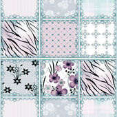 Patchwork seamless floral pattern background — Stock Photo