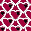 Red white hearts seamless pattern — Stock Photo