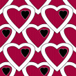 Red white hearts seamless pattern — Stock Photo #46620671