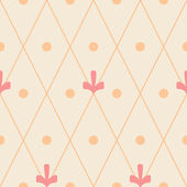 Geometric ornamental seamless pattern on beige — ストックベクタ