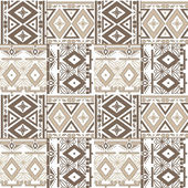 Patchwork seamless geometric folk pattern texture background — 图库照片