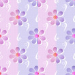 Simple seamless floral pattern background — Stock Photo #48397543
