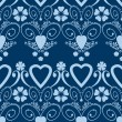 Retro hearts valentines day ornament seamless pattern background — Stock Photo #48397851