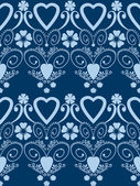 Retro hearts valentines day ornament seamless pattern background — Stok fotoğraf