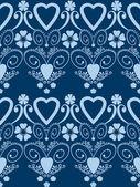 Retro hearts valentines day ornament seamless pattern background — Stock Photo