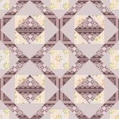 Patchwork seamless pattern background with decorative elements — Stock Photo
