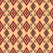Abstract red ornament seamless pattern beige — Stock Photo