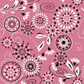 Seamless simple pattern with circles and decorative elements on — Stock Photo