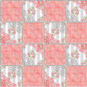 Abstract seamless lace floral pattern texture coral — Stock Photo