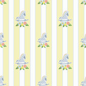 Seamless pattern with rocking horses on stripde background illus — Stockfoto