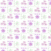 Simple seamless floral pattern on white — Stock Photo