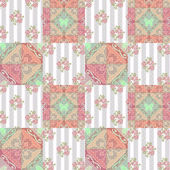 Patchwork abstract seamless floral pattern background — Stock Photo