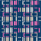 Geometric abstract bright elements seamless pattern retro colors — Stock Photo