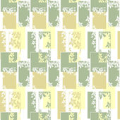 Geometric abstract elements seamless pattern wih flowers — Stock Photo
