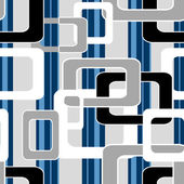 Geometric abstract elements seamless pattern retro colors backgr — Stock Photo