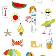 Summer Fun Icon and Elements — Stock Vector