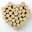 Heart made from wine corks — Stock Photo