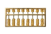 Golden abacus — Stock Photo
