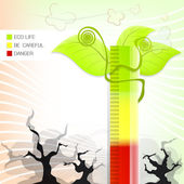 エコ自然図背景ベクトル — ストックベクタ