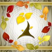 Hojas de otoño otoño vida vector de fondo — Vector de stock