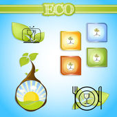 Eco life signs vector — Stock Vector