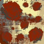 Grunge flowers roses background — Stock Vector